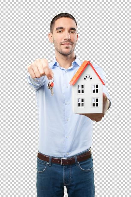 Conceito de compra de uma nova casa Psd Premium