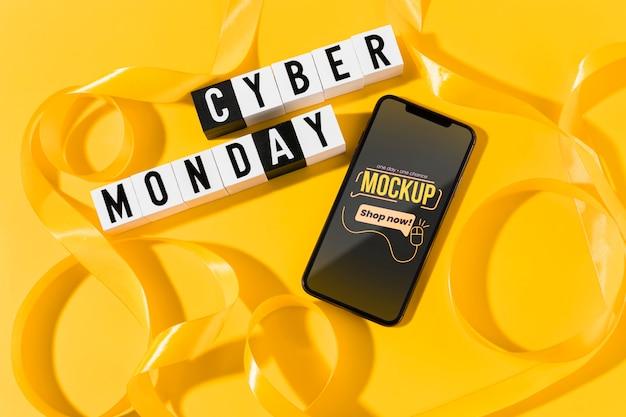 Conceito de cyber segunda-feira com maquete Psd grátis