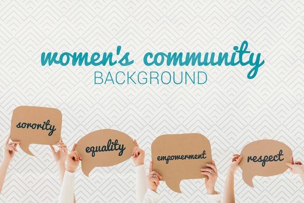 Conceito de fundo comunitário das mulheres Psd grátis