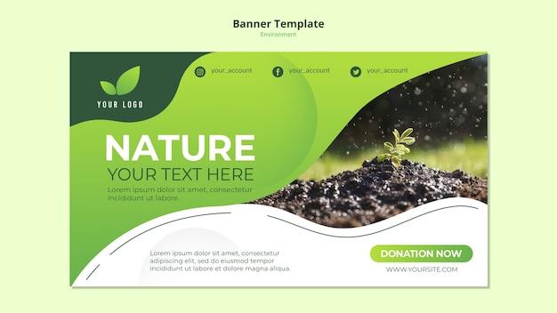 Conceito de modelo de banner da natureza Psd grátis