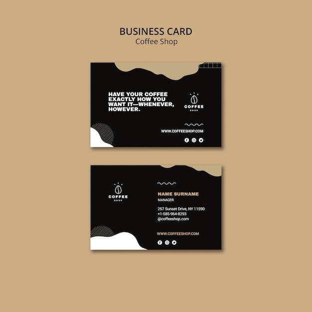 Conceito de modelo de cartão de visita para café Psd grátis