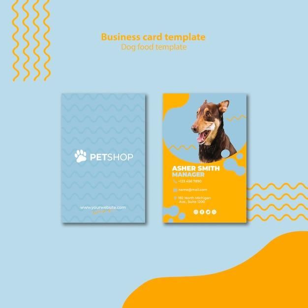 Conceito de modelo de cartão para pet shop Psd grátis