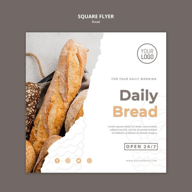Conceito de modelo de panfleto de pão Psd grátis