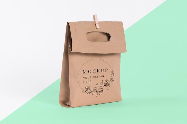 Conceito de saco de papel com maquete Psd grátis