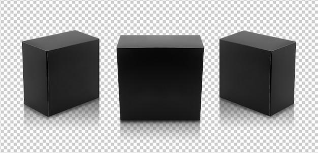 Conjunto de caixas pretas Psd Premium