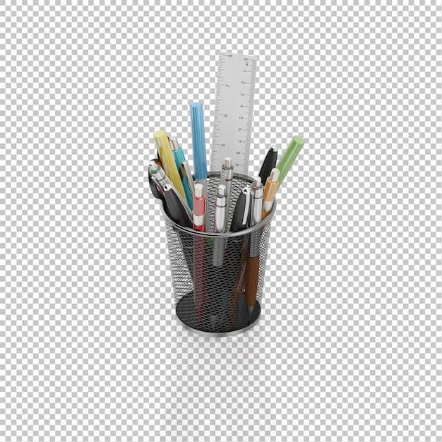 Conjunto de lápis isométricos Psd Premium