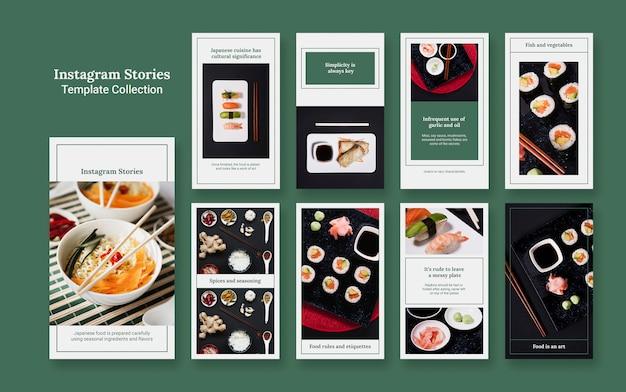 Conjunto de maquete de histórias de insta Psd grátis