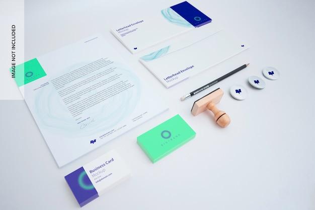 Conjunto de maquete de papelaria Psd Premium