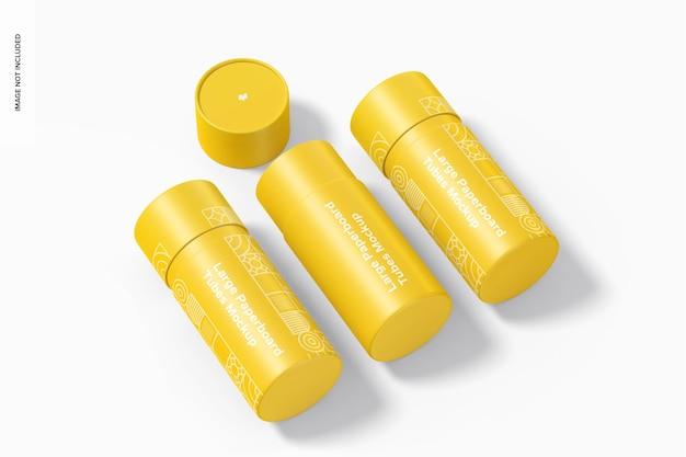 Conjunto de maquete de tubos de papelão grandes Psd Premium
