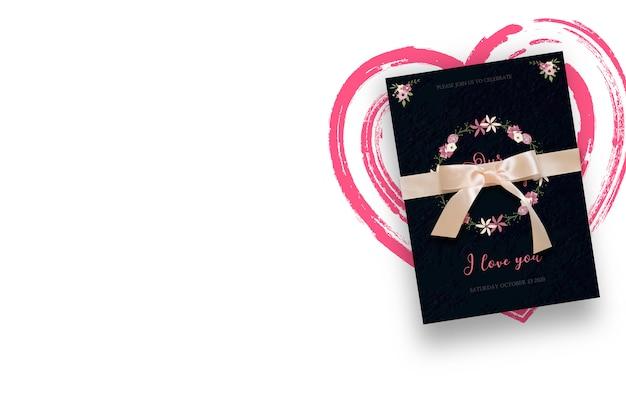 Convite para um casamento Psd Premium