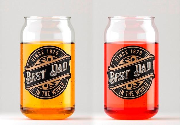 Copo com design de maquete de cerveja Psd Premium