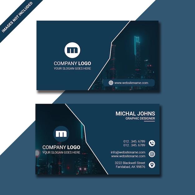 Cor clara do cartão de visita Psd Premium