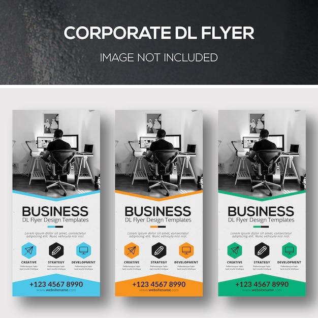 Corporate dl flyer Psd Premium