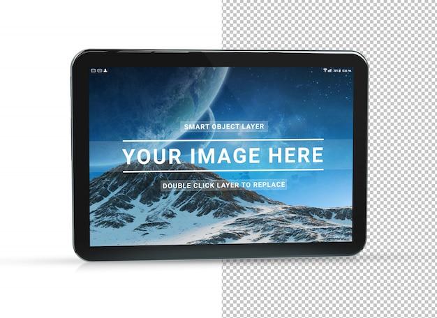 Cortar maquete de tablet preto Psd Premium