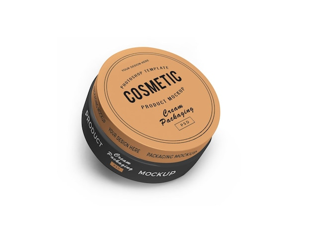 Cosmetic jar 3d mockup Psd Premium