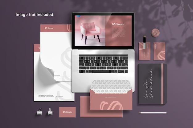 Criador de cena de maquete de identidade de marca para papelaria Psd Premium