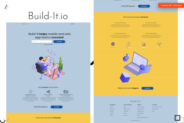 Criar design da página do site Psd Premium