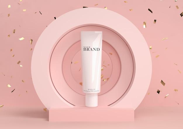 Cuidados com a pele hidratantes cosméticos produtos premium com fundo abstrato. Psd Premium