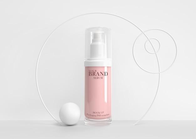 Cuidados com a pele produtos cosméticos cosméticos hidratantes premium psd. Psd Premium