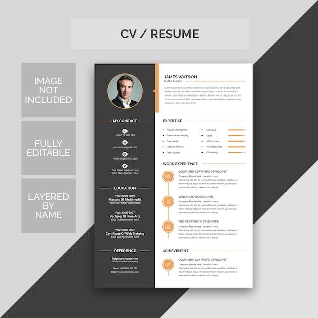 Cv / currículo Psd Premium