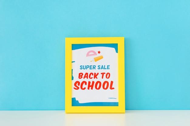 De volta ao projeto de banner de super venda de escola Psd grátis