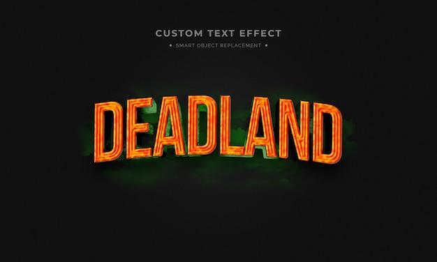 Deadland estilo de texto 3d Psd Premium