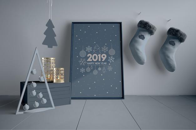 Decorações de natal escandinavo Psd grátis