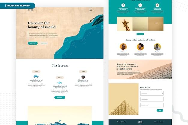 Descubra o modelo de página do site mundial Psd Premium