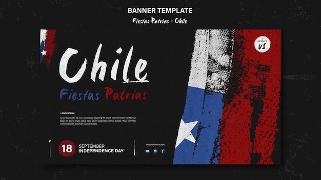 Desenho de banner do dia internacional do chile Psd grátis