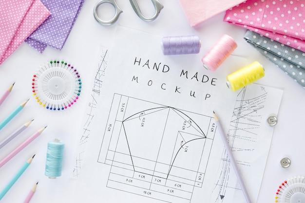 Desenho de desenho costurado à mão Psd grátis