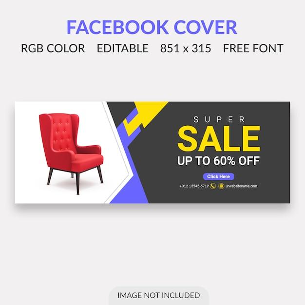 Design da capa facebook venda Psd Premium
