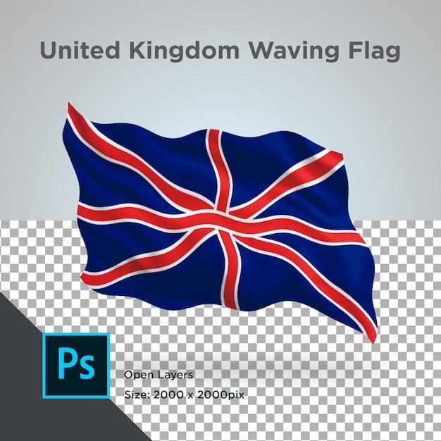 Design da onda da bandeira do reino unido transparente Psd Premium