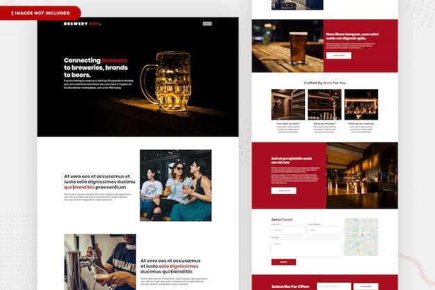 Design da página do site da cervejaria Psd Premium