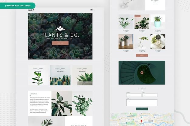 Design da página do site da planta on-line Psd Premium