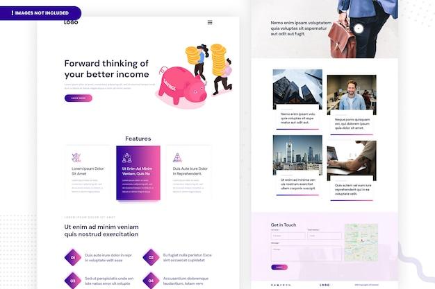 Design da página do site de economia Psd Premium
