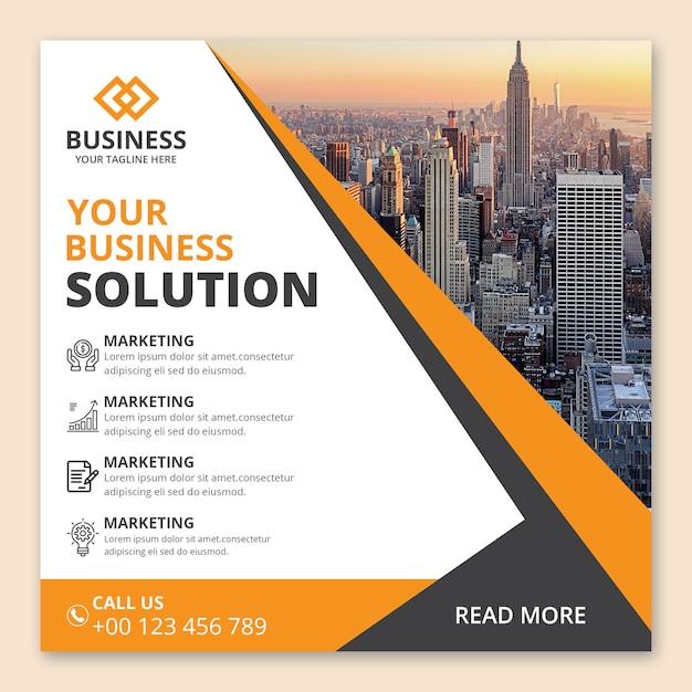Design de banner de agência de negócios corporativos Psd Premium