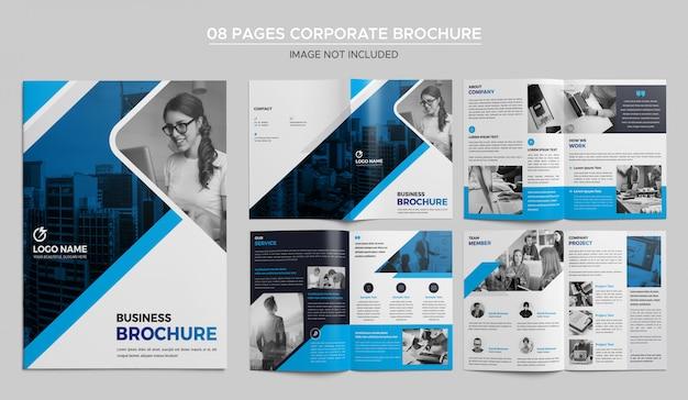Design de brochuras corporativas de 08 páginas Psd Premium