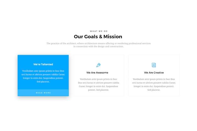 Design de caixa de recursos do site minimal & creative Psd Premium