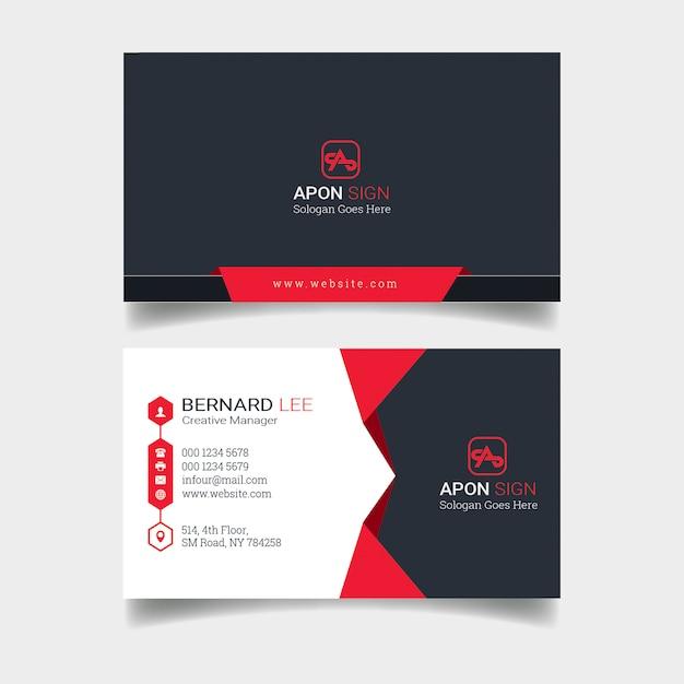Design de cartão corporativo Psd Premium
