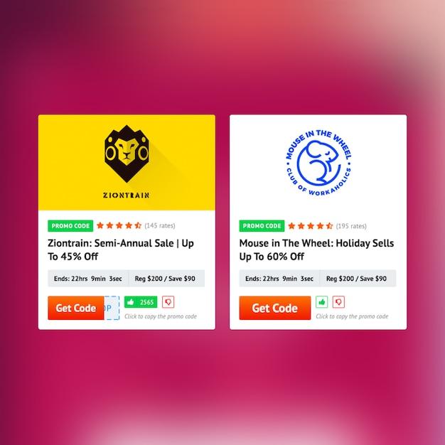 Design de cartão de cupom Psd Premium