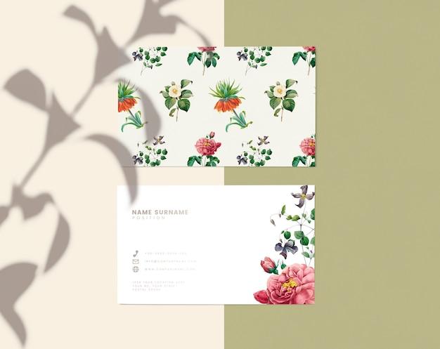 Design de cartão de nome floral Psd grátis