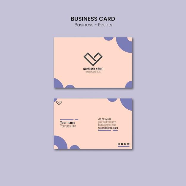 Design de cartão de visita para modelo Psd grátis