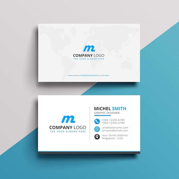 Design de cartão simples Psd Premium