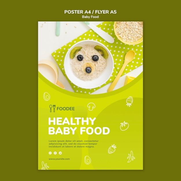 Design de cartaz de comida para bebê Psd grátis