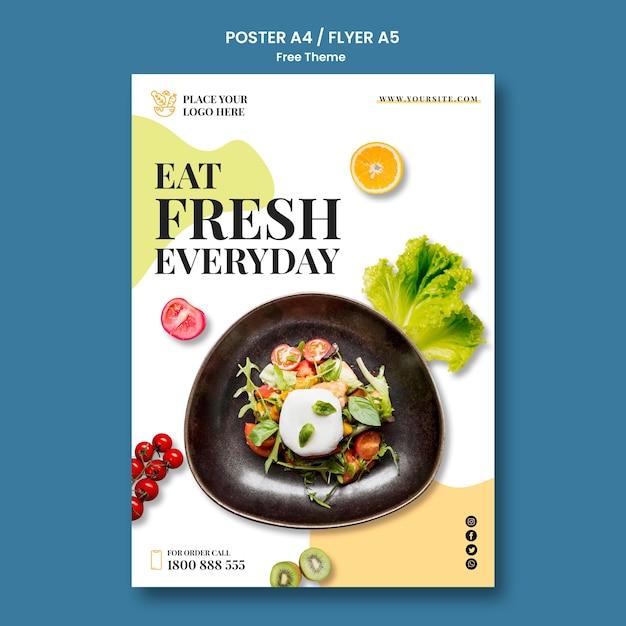 Design de cartaz de comida saudável Psd grátis