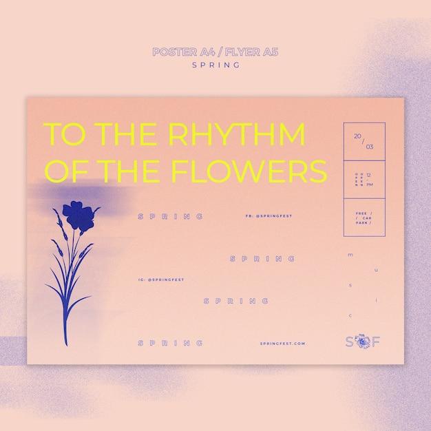 Design de cartaz festival de música primavera Psd grátis