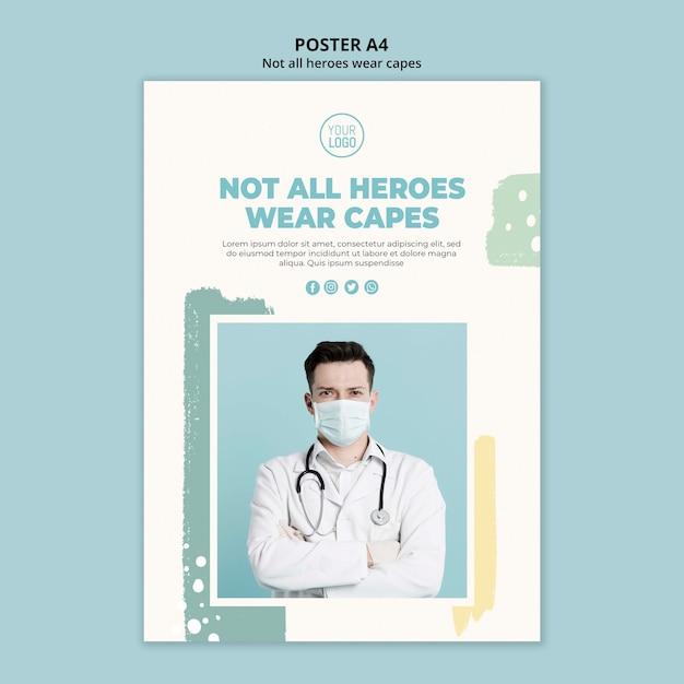 Design de cartaz profissional médico Psd grátis