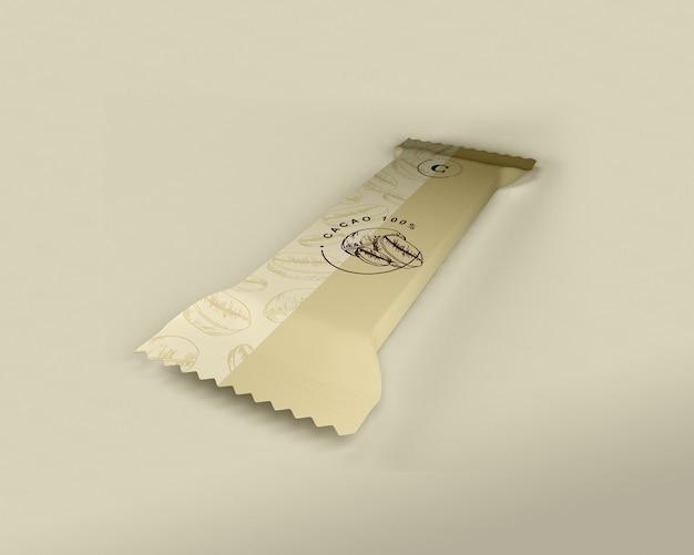Design de embalagem barra de chocolate de plástico Psd grátis