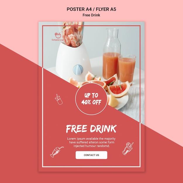 Design de folheto de bebida grátis Psd grátis