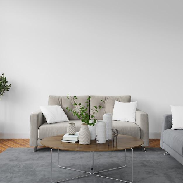 Design de interiores sala de estar Psd grátis